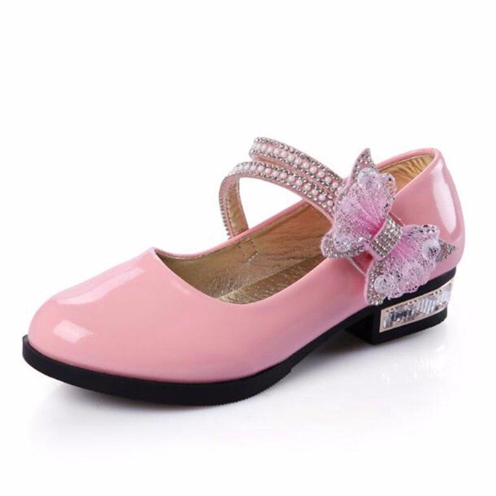 1fe940dba3 2018 adingshine niños Tacones charol niña boda Zapatos blanco rosa Negro  Calzado escolar Niñas princesa Sandal en Zapatos de Cuero de Mamá y bebé en  ...