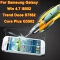 Real de Vidro temperado filme Protetor de Tela Frontal de Vidro Para Samsung Galaxy i8552 Win Duos Tendência S7562 Core Plus G3502 VAREJO CAIXA