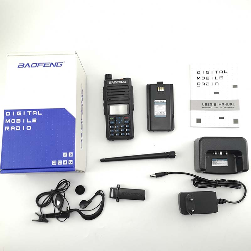 Image 5 - 2pcs Baofeng DM 1801 Oreillette Walkie Talkie Dual Time Slot VHF136 174MHz UHF 400 470MHz Analog DMR Radio DM 1801 Radio Station-in Walkie Talkie from Cellphones & Telecommunications