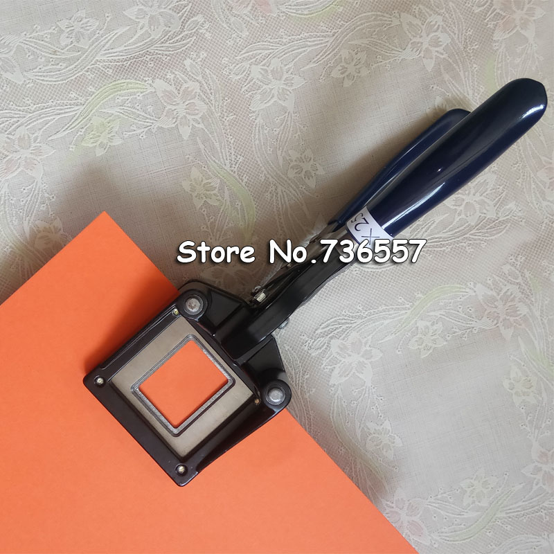 Hand Held Passport ID License Photo Punch Cutter for ID Card Photo,ID Card Slitter, 42mmx55mm round corner R2mm