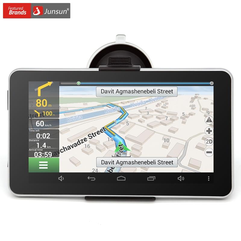 ФОТО Junsun 7 inch Car GPS Navigation Android Bluetooth WIFI Russia Navitel/Europe map Truck Vehicle gps Navigator sat nav Built 16GB