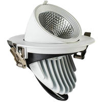 360 degree rotation 35W CREE COB LED Downlight 220V LED Bulb Light Recessed LED Spot Light For Bathroom