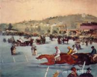 Art Painting by Edouard Manet The Races in the Bois de Boulogne High Quality Hand painted