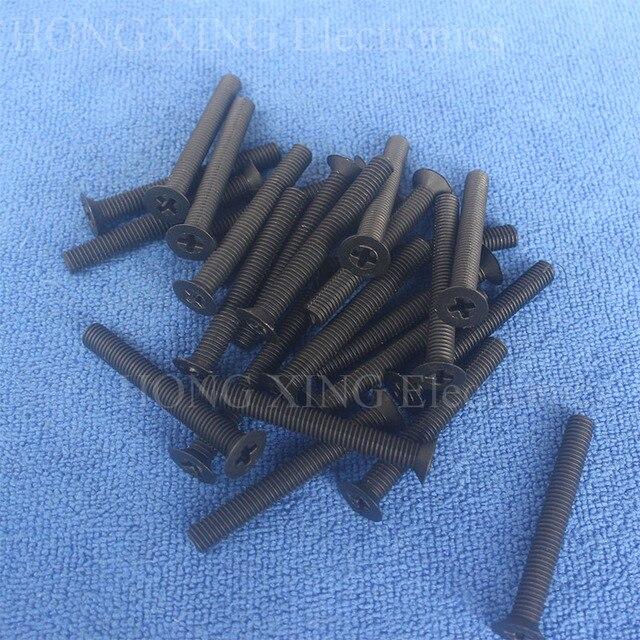 Vis à tête plate M5 noir | En Nylon et plastique, vis à fraisée croisée M5 * 8/10/15/20/25/30/35/40mm