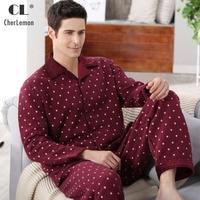 Fashion Autumn Men Pajamas Home Clothing Long Sleeve Warm Winter Pyjamas Sleepwear Male Thicken Cotton Sleep
