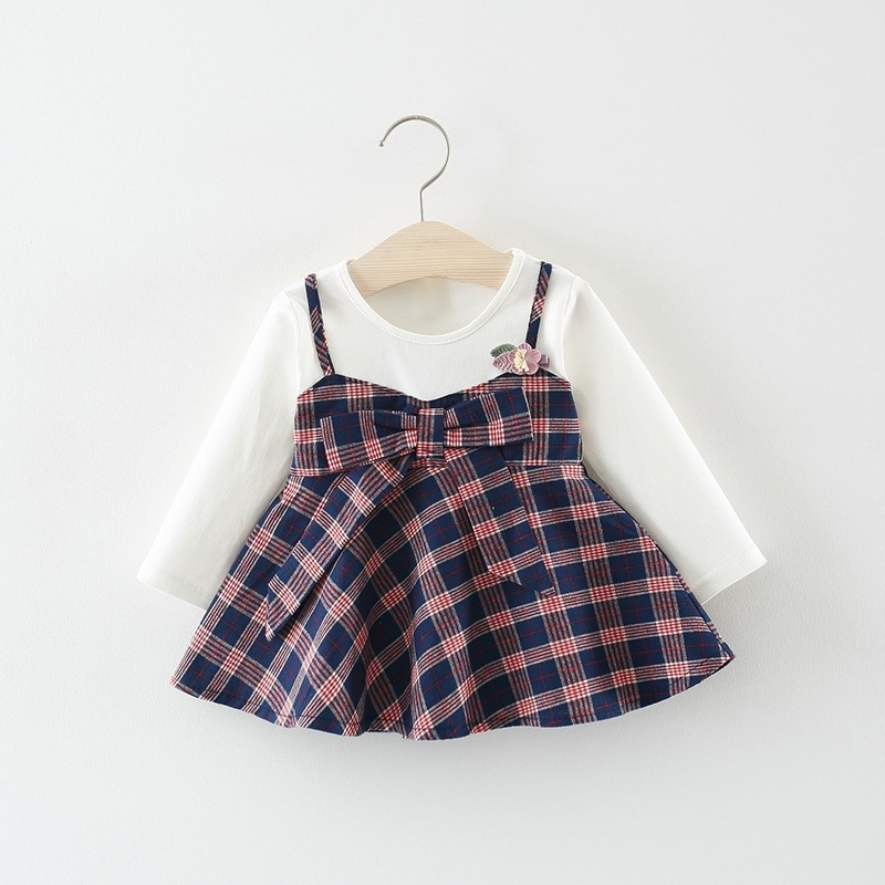 9ededdf6 A Niñas 6 Larga 9 Cuello Manga Meses Niños De O Bebé 12 Nacido Vestido 3 ...