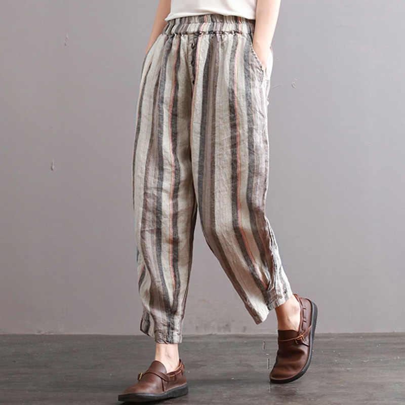 ZANZEA Women/'s Long Pants Casual Elastic Waist Harem Pants Baggy Trousers Plus