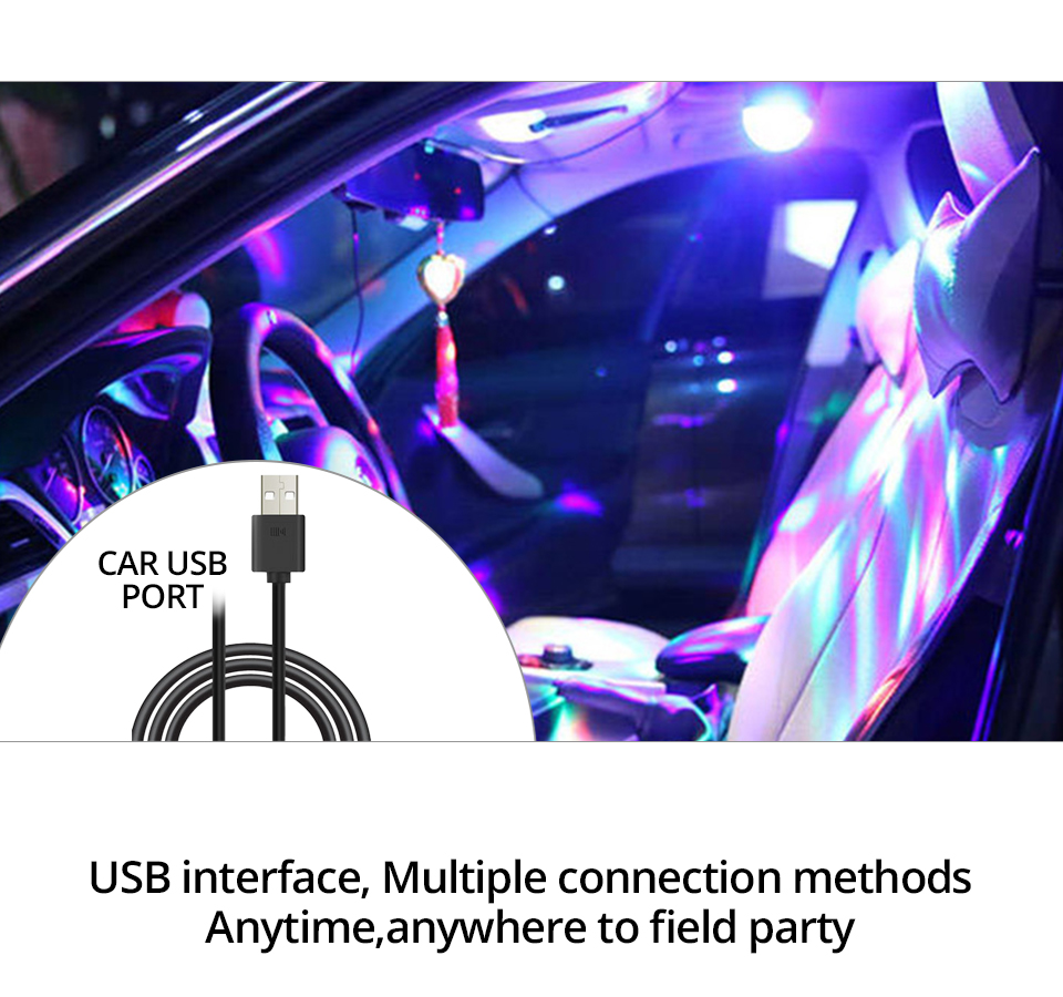 Car-mounted stage lights Adsorbable (5)