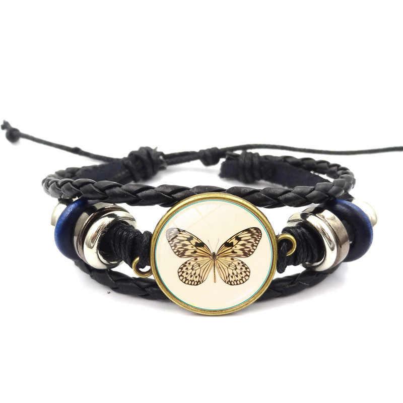 Brazalete promoción Viking pulsera nueva 2019 Simple moda mariposa tiempo joya pulsera cuentas con accesorios de joyería de cuero