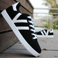 2017 New Fashion Canvas Shoes Men Lace Up Loafers Shoes Black And White Flat Casual Shoes Outdoor Zapatillas Superstar B127