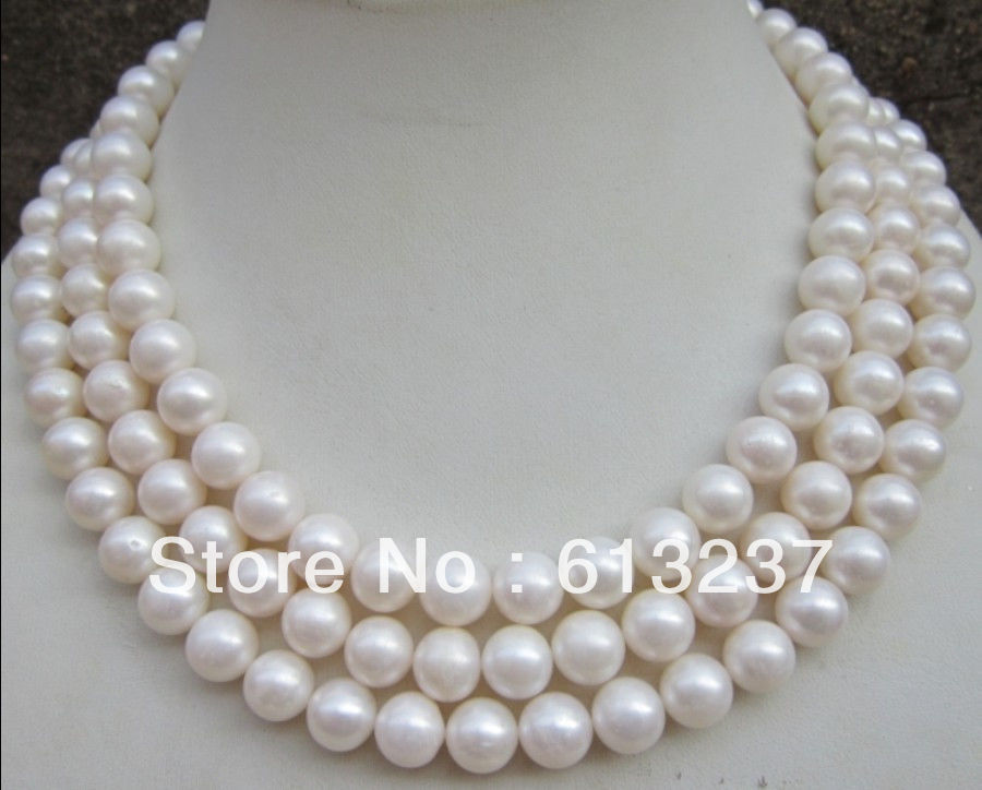 hot free Shipping new 2015 Fashion Style diy 9-10MM AAA NATURAL PERFECT ROUND SOUTH SEA WHITE PEARL NECKLACE 50 MY4558 fashion new classic 9 10mm south sea round white pearl necklace 60inch