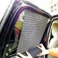 1 ШТ. Серый Авто Автоматические Жалюзи Унти Солнце Затенение Дышащий Занавес Выдвижной Боковое Окно Для Автомобиля Бесплатная Доставка