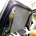 1PCS Gray Auto Automatic Blinds Unti Sun Shading Breathable Curtain Retractable Side Window For Car Free Shipping