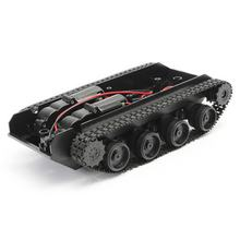 Robot Tank Chassis Handmade DIY Kit Light Shock Absorbed 130 Motors Light Damping balance Tank Robot Chassis For Arduino SCM(China)
