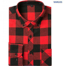 Autumn Men Long Sleeve Grind Casual Single Breasted Shirts Camisa,Plaid Printed Slim Fit Pure Cotton High Quality Chemise