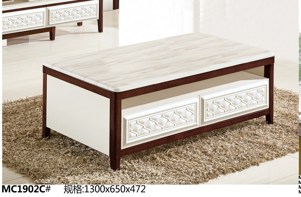 MC1902C Modern living room furniture marble top tea table ...