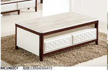 MC1902C Modern living room furniture marble top tea table coffee table(China)