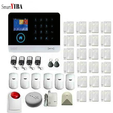 SmartYIBA IOS Android APP Control Wireless 3G WiFi SMS Home Burglar Security Alarm System Detector Sensor Kit Remote Control цена