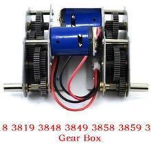 Henglong 3838 3839 3878 3889 3908 3918 1/16 RC батальон Танк 380/390 моторы/сталь комплект шестеренок/стальная коробка передач с 380 мотор