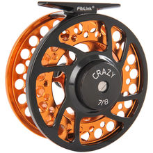 Fiblink Fly Fishing Reels with Large Arbor 2+1 BB, CNC machined Aluminum Alloy Body and Spool in Fly Reel Sizes 5/6, 7/8, 9/10