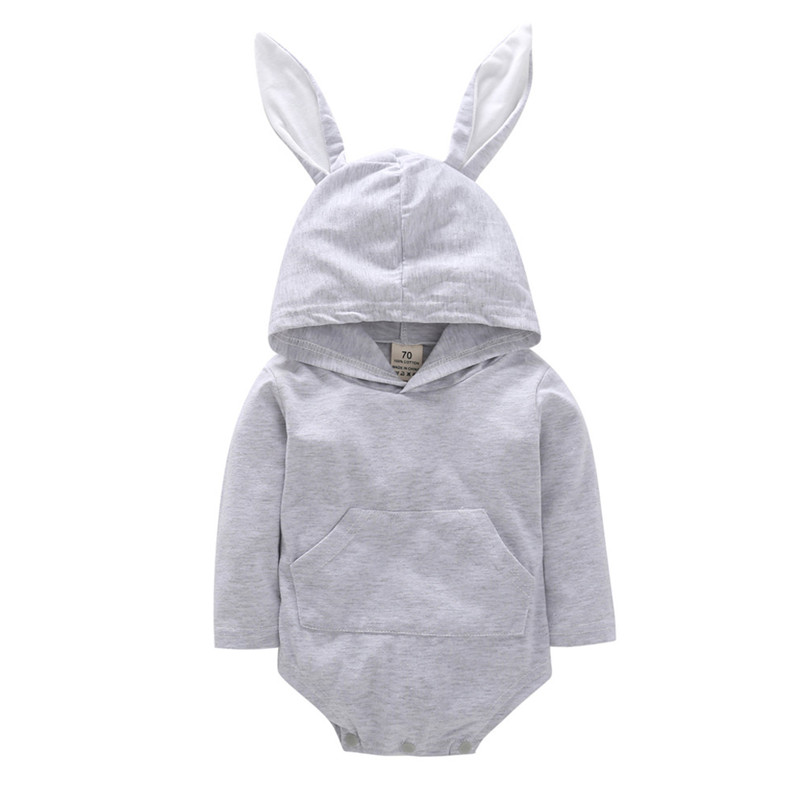 2018 Baby Clothes Baby Romper Toddler Infant Baby Girl Boy Cartoon Rabbit Ear Long Sleeve Hooded Jumpsuit Romper Clothes JY12#F (4)