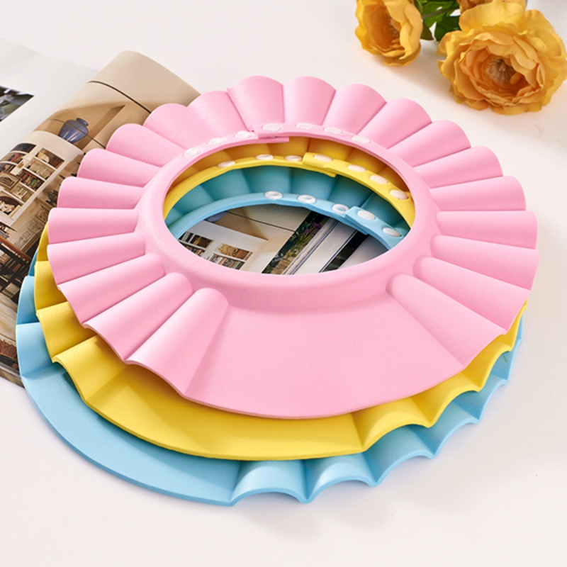 Children Wash Hair Shower Cap Shield Hat Adjustable Hat Protect Shampoo For Baby Health Bathing Accessories