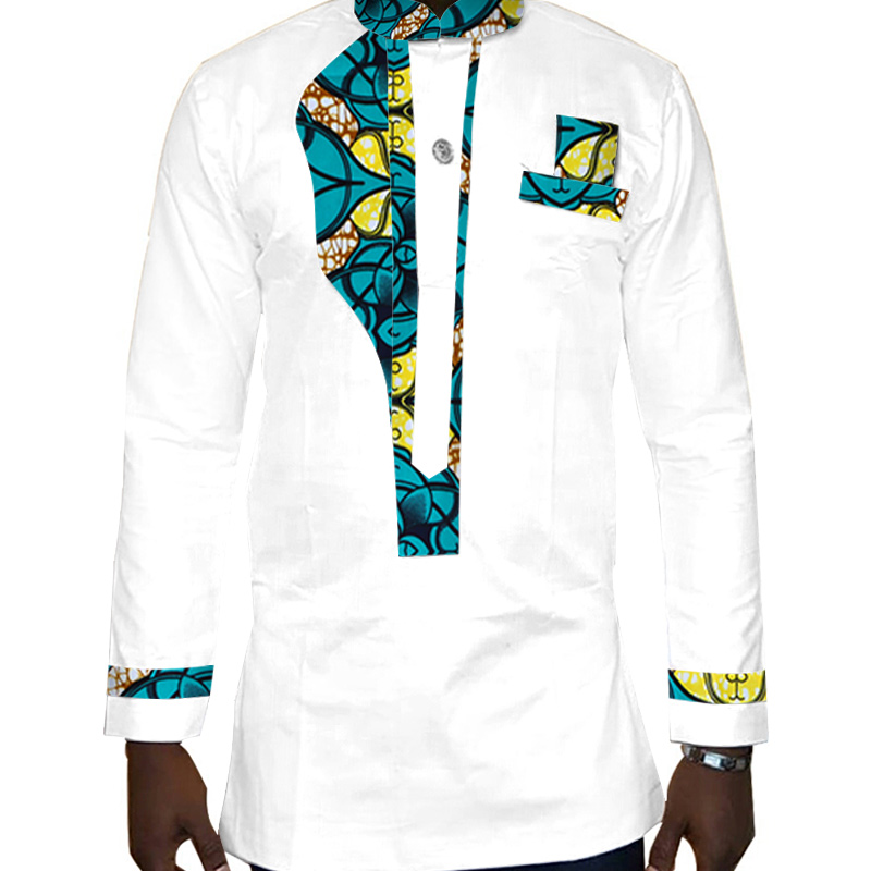 Mens Shirt 2018 New African Mens Clothing Long Sleeve Dashiki for Men Slim Fit Brand Clothing 6XL African Print Shirts WYN323 in Africa Clothing from Novelty Special Use