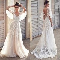 NEW vestidos mujer 2018 Sexy Women V Neck Short Sleeve Lace Gown Party Dress long female white maix dress vestidos de fiesta