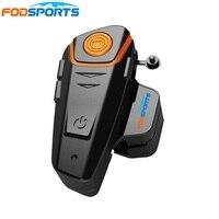 1 pc Fodsports Motorcycle Bluetooth Helmet Intercom Moto Headset 1000m Waterproof IPX6 BT S2 Motorbike BT Interphone FM Soft Mic