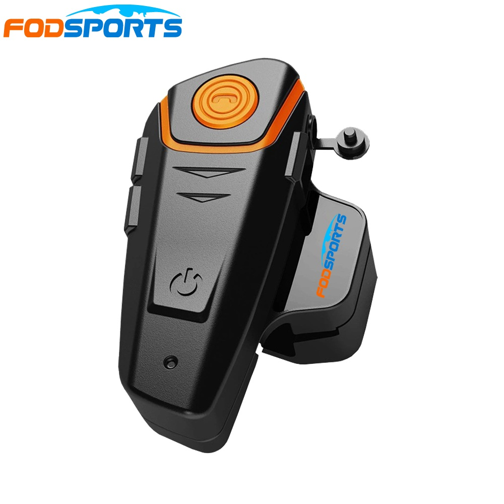 1 unid Fodsports motocicleta Bluetooth casco intercomunicador Moto auriculares 1000 m impermeable IPX6 BT-S2 Moto BT Interphone FM micrófono suave