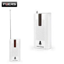 Бесплатная доставка! Беспроводной двери окна вибрации детектор шок Сенсор для сигнализации дома Системы
