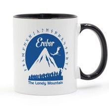 Erebor LOTR HOBBIT LORD OF THE RINGS Mug Coffee Milk Ceramic Cup Creative DIY Gifts Home Decor Mugs 11oz T1383