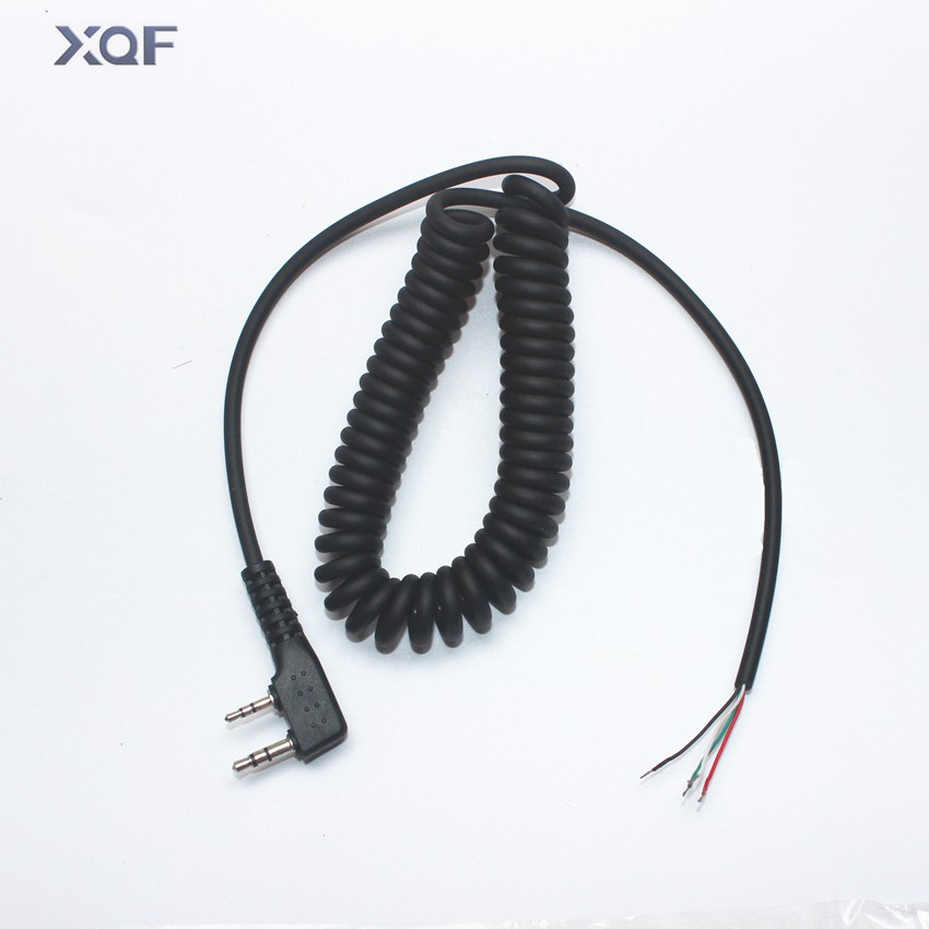 DIY 4wire mikrofonkabel K plug 2pins for kenwood wouxun baofeng puxing linton tyt quansheng walkie talkie