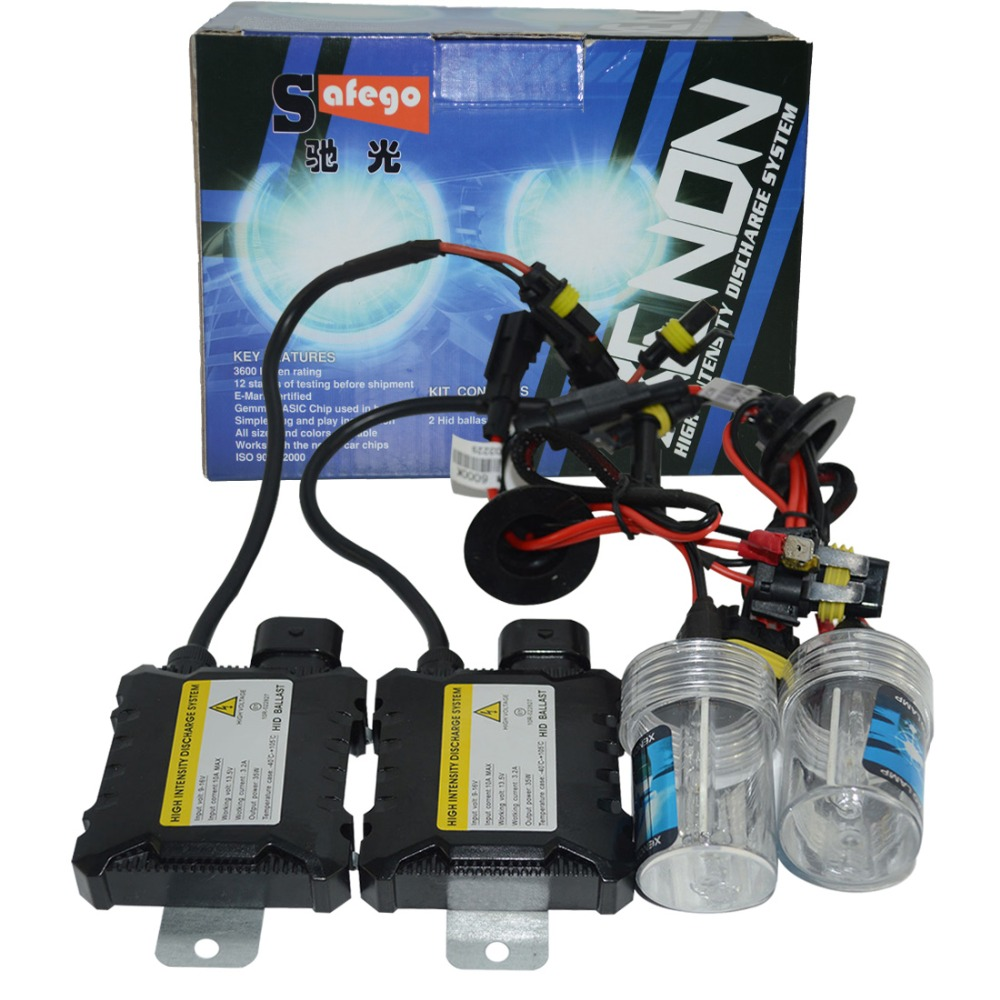 Slim Ballast kit Xenon Hid Kit 55W H4 H1 H3 xenon H7 H8 H10 H11 H27 HB3 HB4 H13 9005 9006 Car light source Headlight bulbs lamp hot wholesale 55w silver hid xenon kit slim ballast 9006 12000k replacement headlight new [cpa239]