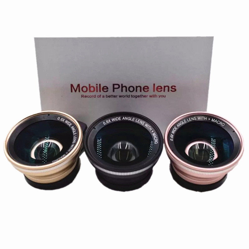DR-fish 0.6X Wide Angle Phone Lens 15 Macro lenses For iPhone 7 6S Plus HD Clip 37mm For Smartphone Cell phone camera Lens 7