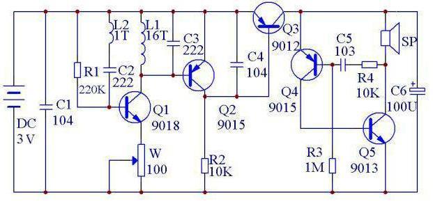 Gold Detector Circuit Dede14
