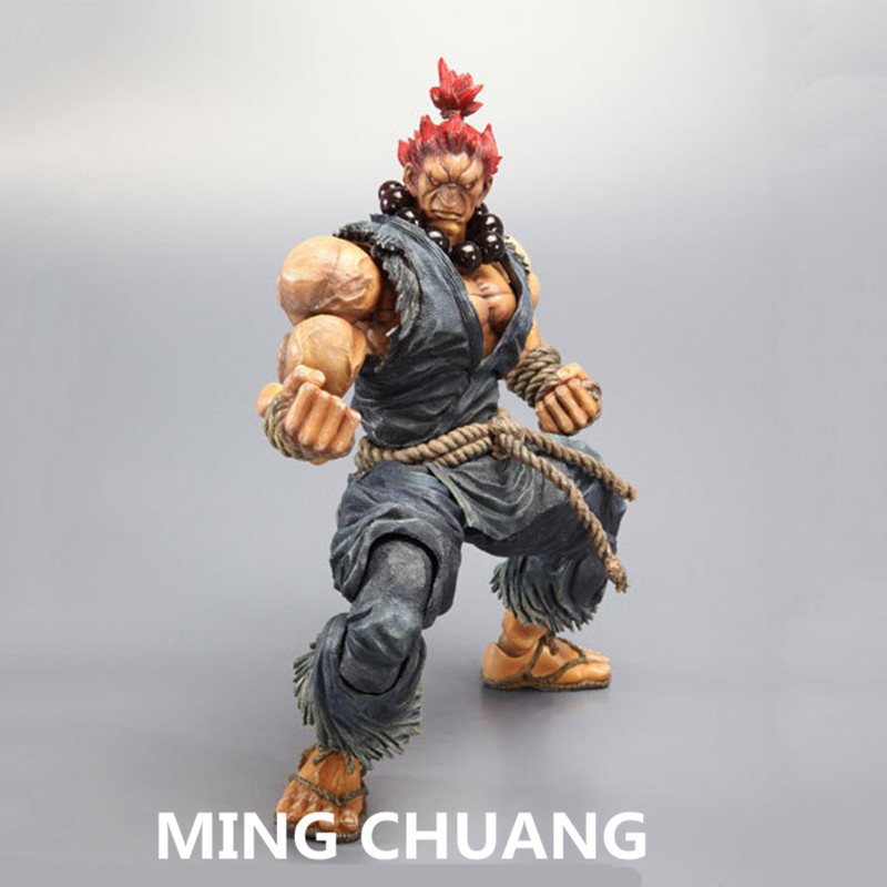 Super Street Fighter IV Play Arts Gouki Akuma PVC Action Figure Collectible Model Toy White and black with boxed 22 cm Q41 shfiguarts street fighter iv chun li fighting body pvc action figure collectible model toy 14 5cm kt4235