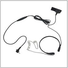 Acoustic Tube Throat Mic Earpiece Headset with PTT MIC for Walkie Talkie Sepura SRH3800 SRH3500 SRP3000 SRP2000