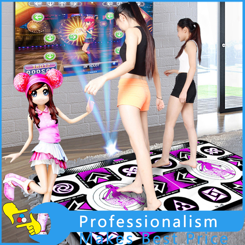 High Qulity Non-Slip Double Dancing Step Dance Mat PC USB Interface Wireless Induction Ultra HD 3D Scene body slimming relax massage new dance pad non slip dancing step dance game mat pad for pc blanket relax tone leisure recreation