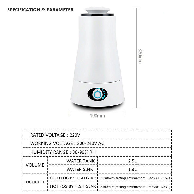 Image 5 - TINTON LIFE 220V 2.5L Humidifiers Aroma Ultrasonic Humidifier LED Light Humidifier Essential Oil Diffuser Air Humidifier-in Humidifiers from Home Appliances