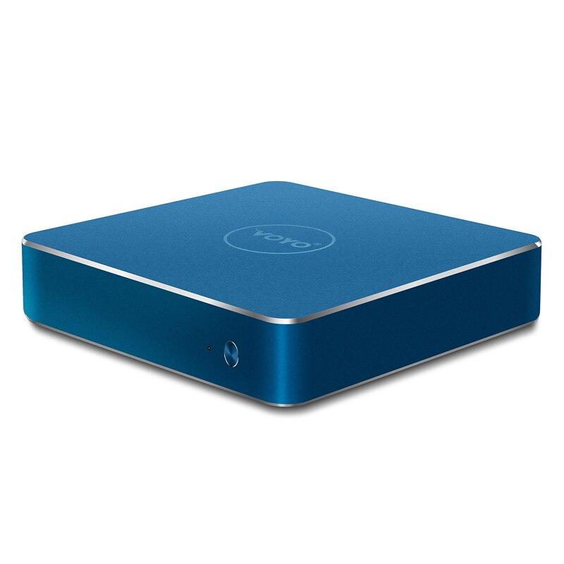 Prix pour VOYO V1 N4200 Mini PC 4096*2304 Intel Apllo lac N4200 4G RAM 32G ROM HDMI WIFI Win10 TV BOX Multi-langue Médias Boîte