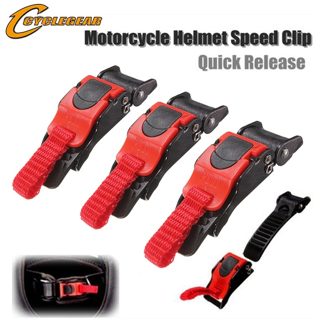Helmet Clips Accessories Automobiles & Motorcycles color: Black Red
