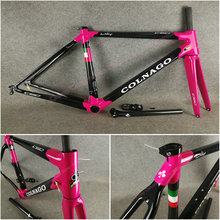 T1000 3K Glossy Dark Pink Black Colnago C60 carbon road frames bicycle Frameset with XS/S/M/L/XL for your selection(China)