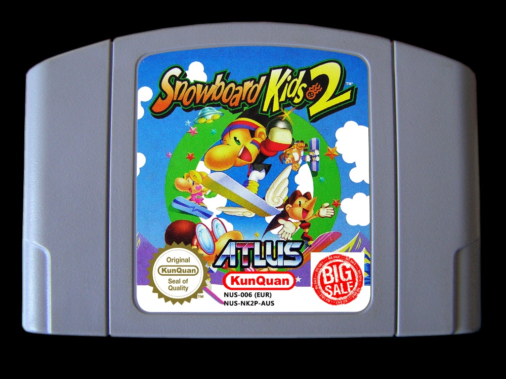 64 Bit Games ** Snowboard Kids 2 ( English PAL Version!! ) 64 bit games conker s bad fur day english pal version chip save file no need battery