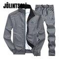 Jolintsai Plus Size XXXXL Hoodies/Sweatershirt+ Sweatpants Tracksuit Men 2017 Sportswear Men Set Sudaderas Hombre Sweat Suits