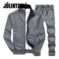 Jolintsai Plus Size XXXXL Hoodies/Sweatershirt+ Sweatpants Tracksuit Men 2017 Sportwear Men Set Sudaderas Hombre Sweat Suits