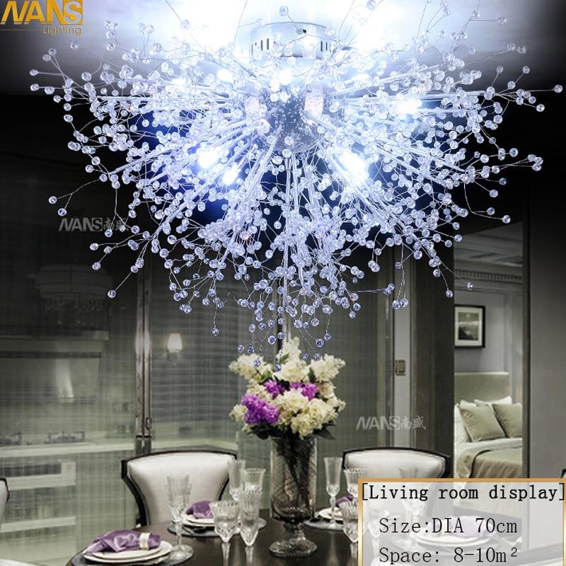 NANS Modern G4Led Crystal Stropní svítidla pro obývací pokoj ložnice luminaria para sala teta cristal Stropní svítidlo deckenleuchten