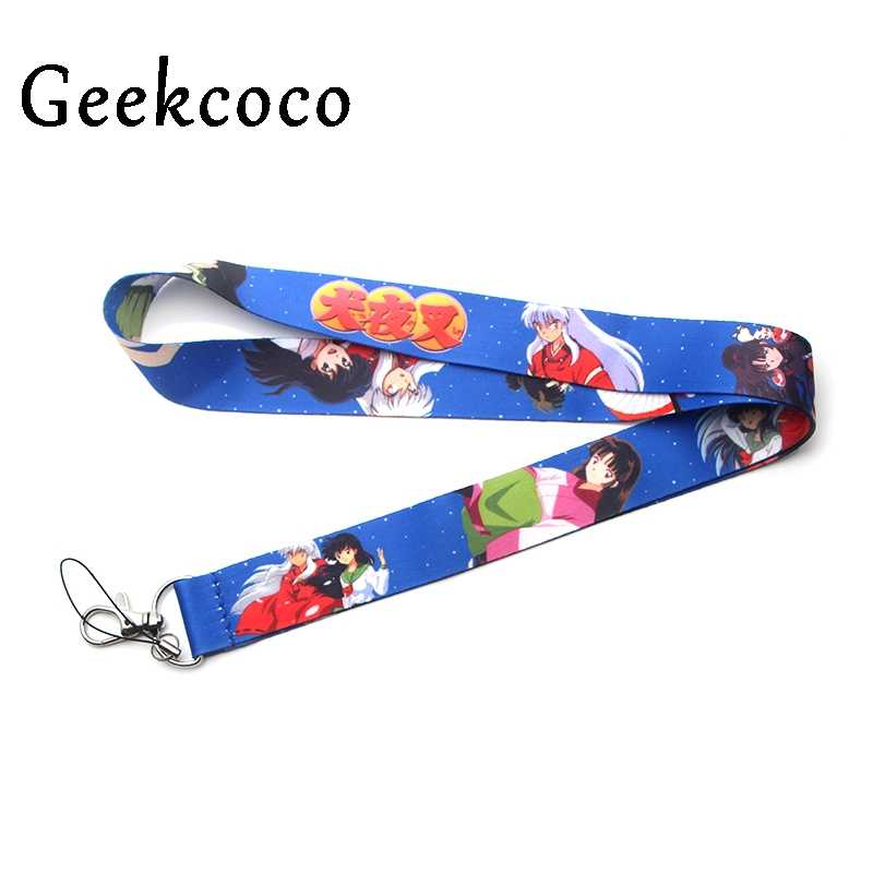 Inuyasha keychains Accessories Safety Breakaway For Mobile Phone USB ID Holder Keys Straps Tags Neck  lanyard Camera J0199