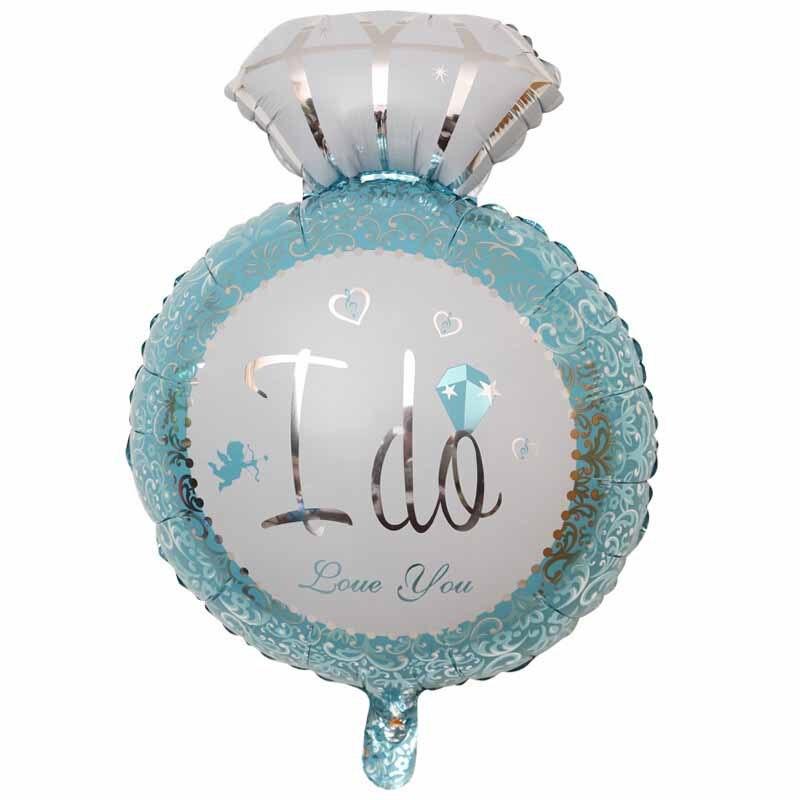 Ynnayu Dijamantni prsten Ljubav folija baloni 18inch aluminijski - Za blagdane i zabave - Foto 2