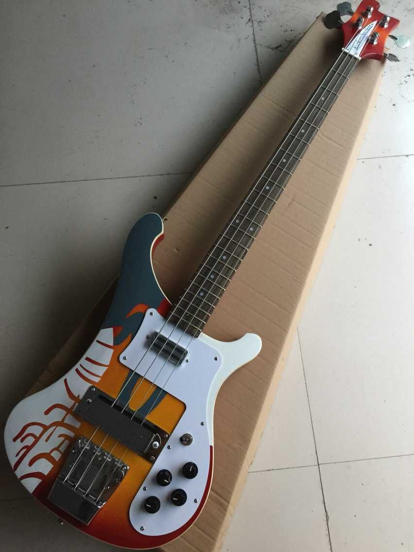 wholesale high quality custom colored design 4003 vsunburst 4 strings rick bass guitar with dot. Black Bedroom Furniture Sets. Home Design Ideas